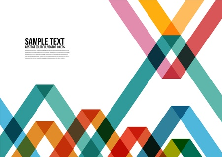 Abstract Colorful Triangle Pattern   Background , Cover , Layout , Magazine, Brochure , Poster , Website , Namecard , etc