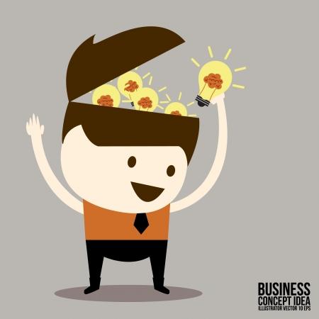Businessman get idea Illustration