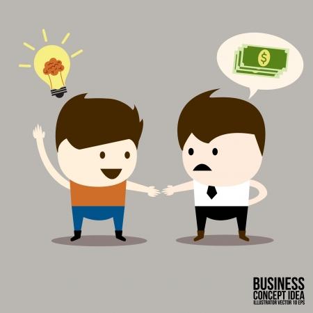Businessman and  Partnership trading Illustration