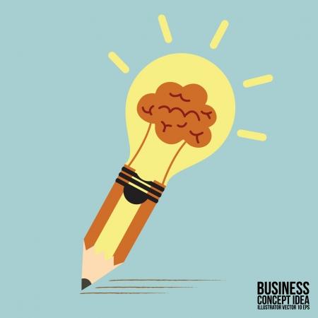 Abstract Pencil lamp concept idea
