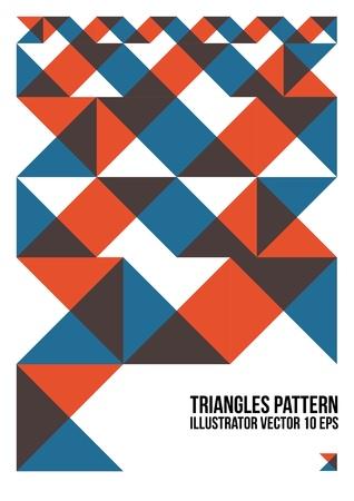 다채로운 추상적 인 삼각형 패턴 배경