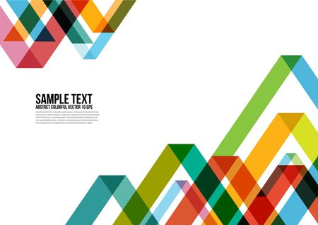 Abstract Colorful Triangle Pattern   Background Illustration