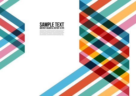 magazine template: Abstract Colorful Triangle Pattern   Background