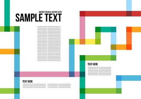 forme: Motif abstrait coloré arrière plan, couverture, mise en page, magazine, brochure, affiche, site web, carte de visite, etc Illustration