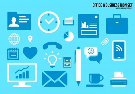 Icons set Office   Business