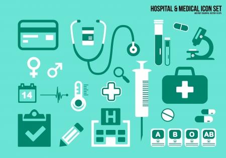 Icons set hospital   Medical