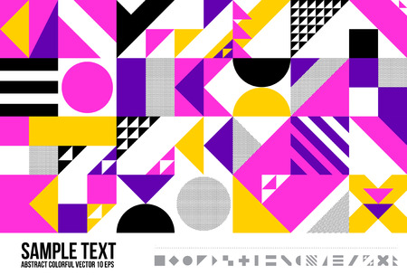 Abstract Geometric Triangle Pattern Illustration