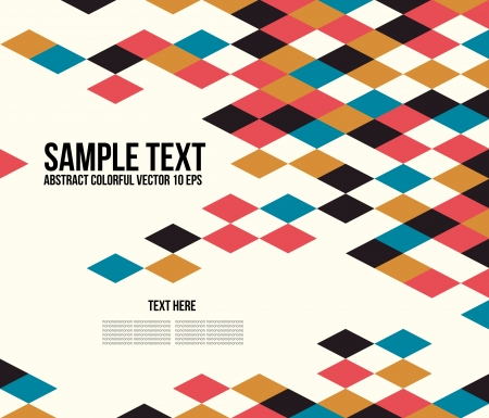 Abstract Colorful Triangle Pattern Illustration