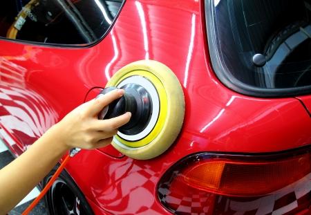 polished: Polished and coating wax car