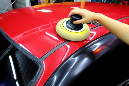 wax: Polished and coating wax car