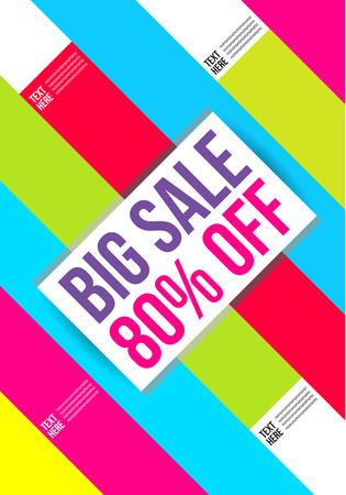 Abstract colorful Big Sale design template. Background , Cover , Layout , Magazine, Brochure , Poster , Website , Name card , price , tag etc.