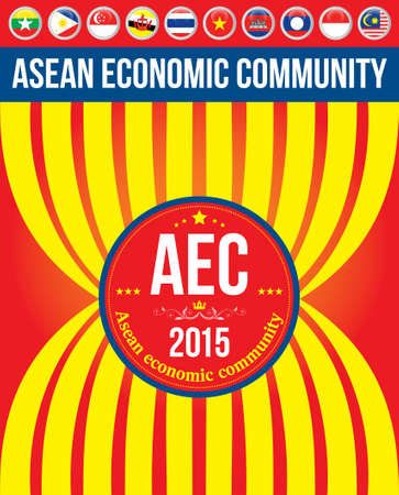 ASEAN Economic Community: AEC 2015 , Background , poster , Layout , Magazine, Brochure , Website , cover , annual etc. Vector