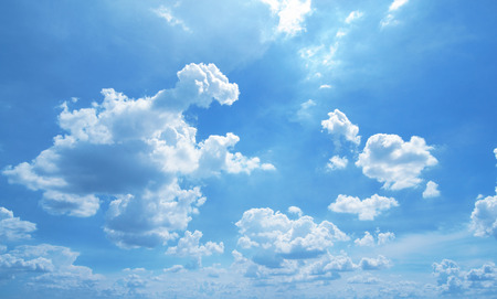 Cloud in the Blue sky background