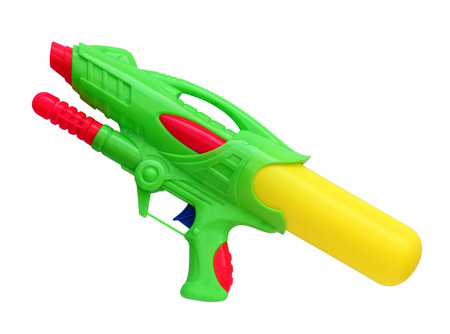 watergun: Water gun isolated on white background, (Clipping path)