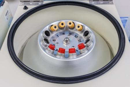 Blood tube in centrifuge machine