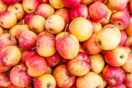 manzanas en el mercado