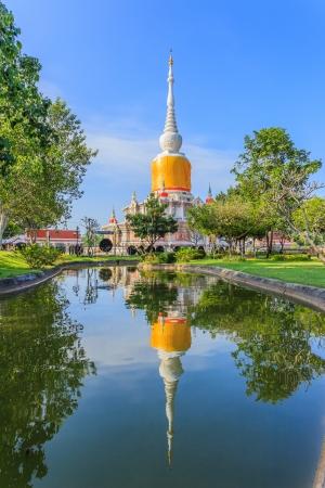 Na Dun pagoda at Maha Sarakham in Thailand