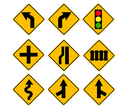 Road Sign set vector Vector