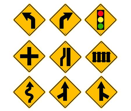 Road Sign set vector Stock Vector - 23484001