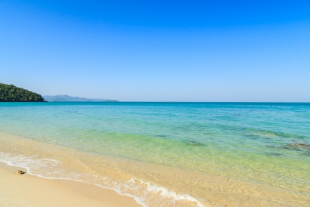 Beach and tropical sea  in Thailand Stock Photo