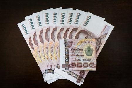 Dinero tailand�s Foto de archivo