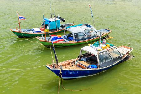 trawler net: Thai small fishing boat