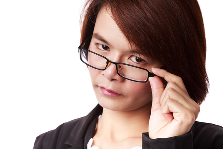 Asian business woman with eyeglasses Stock Photo