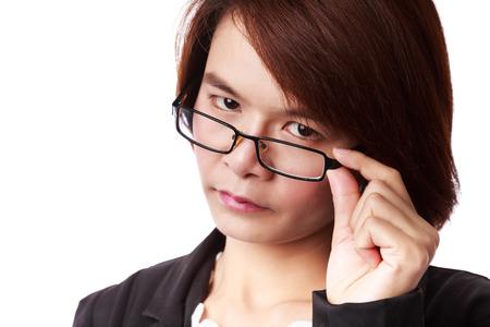 Mujer de negocios asi�tica con gafas