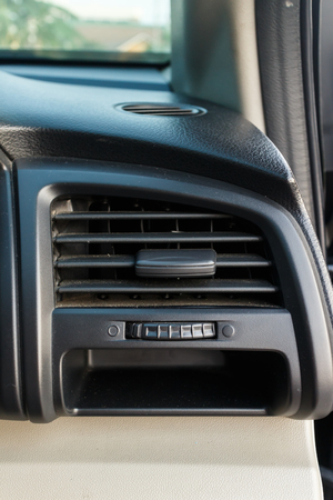 Dirty car air conditioning.Car Dashboard Air Vents