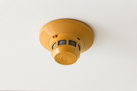 smoke detector of fire alarm Stock Photo