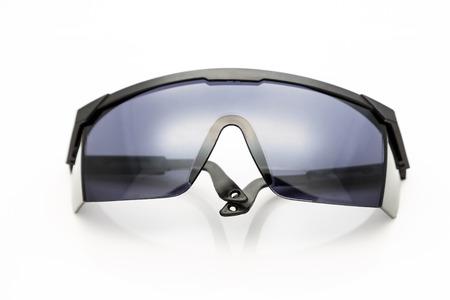 veiligheidsbril op een witte achtergrond
