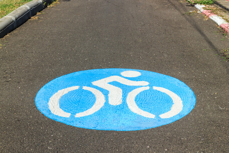 bicycle sign on the road : bicycle lane.