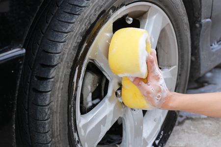 Cleaning Wheels.hand hold sponge for washing