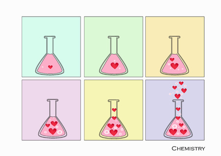Flat design. Chemical Laboratory,Science lab Vector.