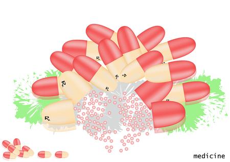 granules: The capsule is opened in tablets, granules.
