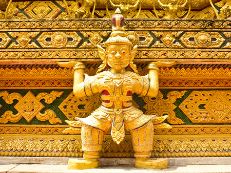 budda: budda in temple at thailand Stock Photo