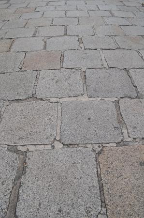 The old Stone footpath in an Emerald Buddha Temple, Bangkok