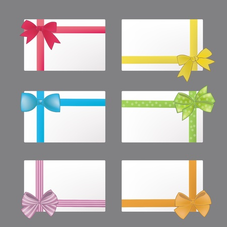 blank gift tag: Name card in colorful ribbon style Illustration