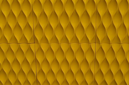 Yellow wallpaper with creative pattern Stock Photo - 16456593