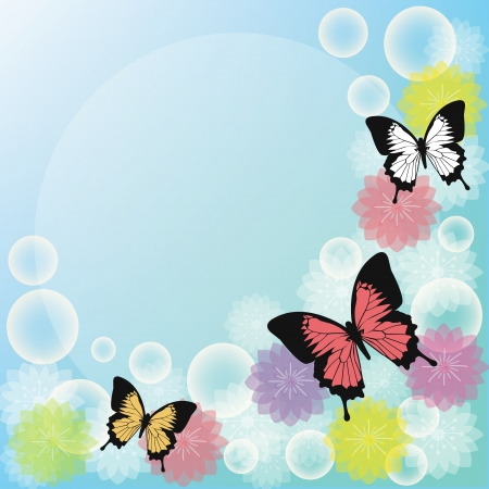 Butterfly for notebook Vector