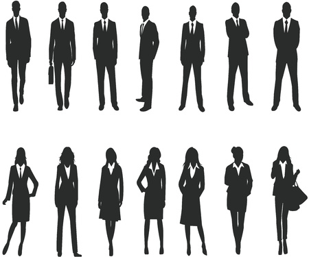 Silhouette for business people Vector
