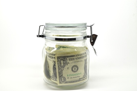 money kept lock in the jar, concept for savings.