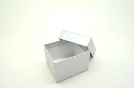 grey box isolated on white background