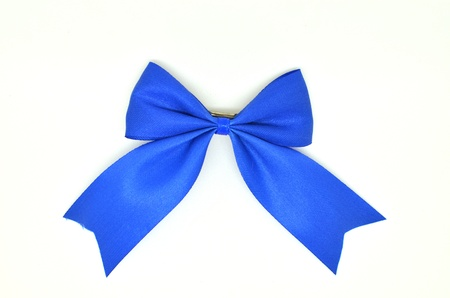Blue satin ribbon for hair accessories Stock Photo
