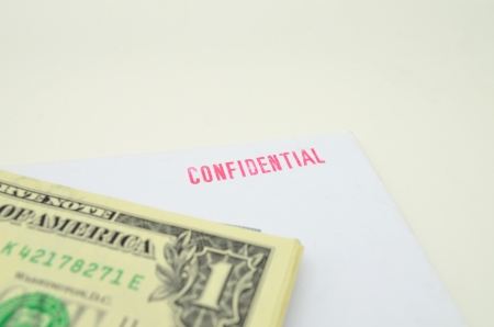 confidentially: Money and the confidential data Stock Photo