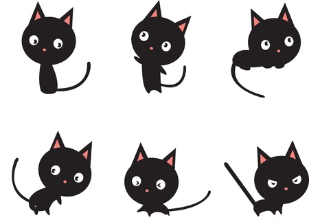 Black cat Stock Vector - 17452595