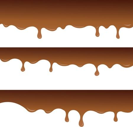 chocolate derretido: Chocolate derretido Vectores
