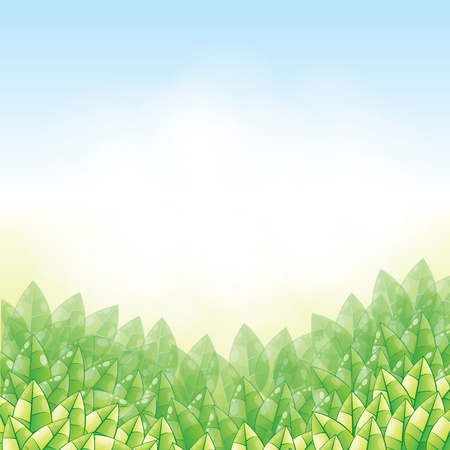 nature background in vector Stock Vector - 17899685