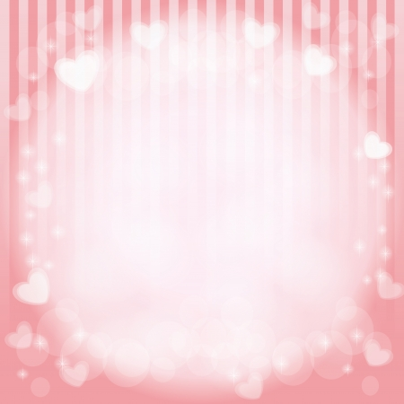 hearts in pink vector background