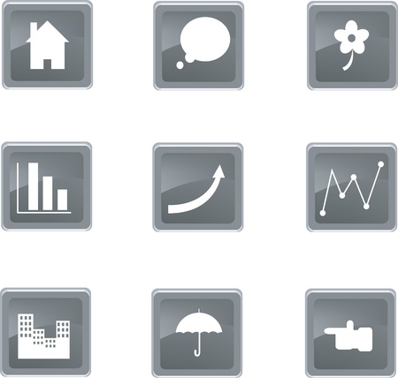 set of nine icons Stock Vector - 18348788